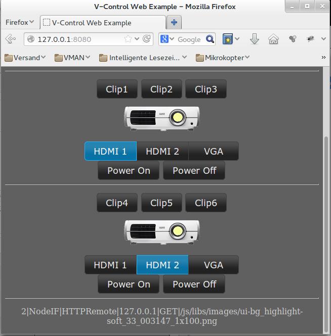 WebExample Screenshot